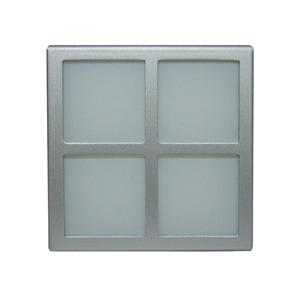Window Frame Only 240V Silver / Square Window Frosted Glass