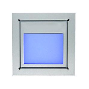 Slot Window 24V Silver / Clear Glass Blue