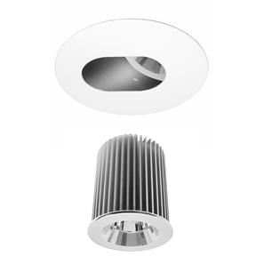 Invisible Round Camera Glass Downlight IP44 Reality LED & Driver 10W (=75W) 2700K Warm White 45�