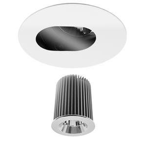Invisible Round Camera Glass Downlight IP44 Reality LED & Driver 10W (=75W) 2700K Warm White 45°