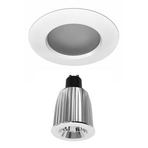 Elegant Fixed Frosted IP54 Baffle Reality LED GU10 Warm White (3000K) 7W (=75W) 45°