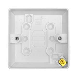 Single Plate Back Box Plastic 20mm
