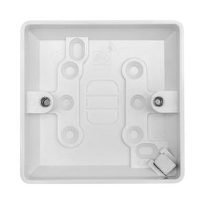 Single Plate Back Box Plastic 34mm