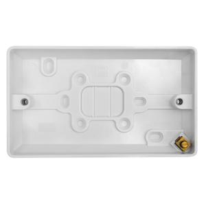 Double Plate Back Box Plastic 20mm
