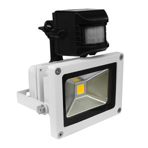LED White PIR Floodlight 240V 10W 30