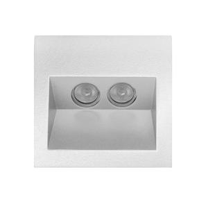 Ixis Recessed Wall Light 240V 2W White 3000K Warm White
