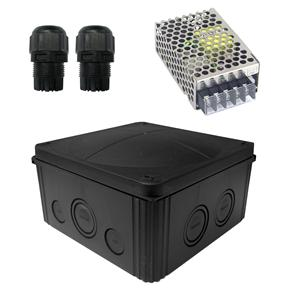 Waterproof Junction Box Kit 10 Way 12V Black 25W