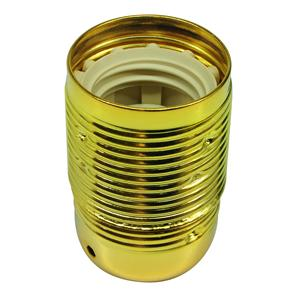 Lampholder Threaded Skirt Brass ES / E27