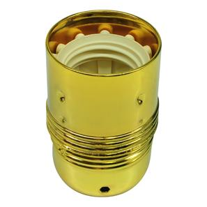 Lampholder Plain Skirt Brass ES / E27