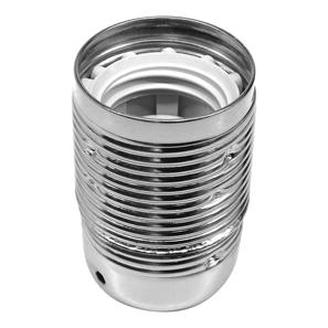 Lampholder Threaded Skirt Nickel ES / E27