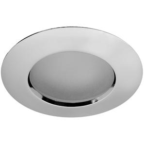 Fixed Downlight 50 IP54 Frosted  12V 50W Polished Chrome