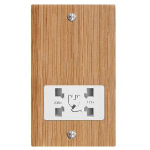 Shaver Point 1 gang shaver socket Oak