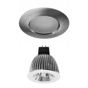 Elegant Fixed Frosted IP54 Reality LED MR16 Warm White (3000K) 7W (=75W) 45°