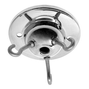 Ceiling 3 Hook Plate  Chrome