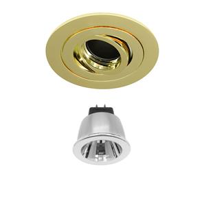 Brass Rock 'n' Roll 35 Black Baffle  LED & Driver Warm White (2700K) 3.5W (=35W) 35°