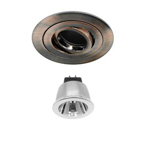 Rock 'n' Roll 35 Black Baffle LED & Driver Warm White (2700K) 3.5W (=35W) 35°