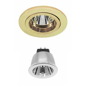 Contract 35 LED Warm White (2700K) 3.5W (=35W) Brass 35°