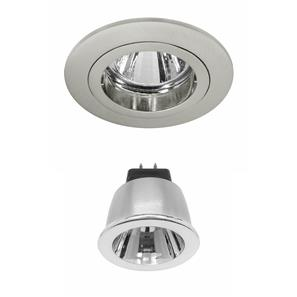 Contract 35 LED Warm White (2700K) 3.5W (=35W) Nickel 35°