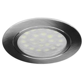 LED Alcove Round 5000K Cool White 24V 1.8W Stainless Steel