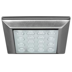 LED Alcove Square 3000K Warm White 24V 1.25W Stainless Steel