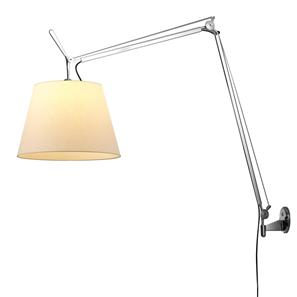 Tolomeo Mega Arm & Wall Bracket Parchment Shade 150W