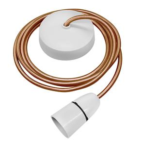 Dome Pendant Kit 2m Cable 100W Old Gold / White