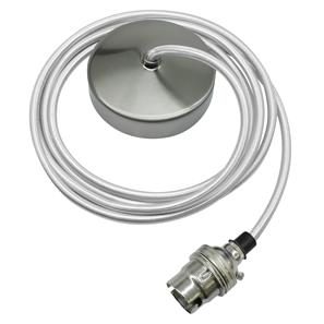 Dome Pendant Kit 2m Cable 100W Silver / Nickel