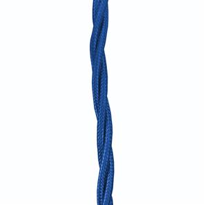 Braided Cloth Triple Twisted 3 Core Round Flex 0.75mm� Royal Blue