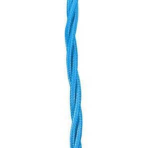 Braided Cloth Triple Twisted 3 Core Round Flex 0.75mm� Electric Blue