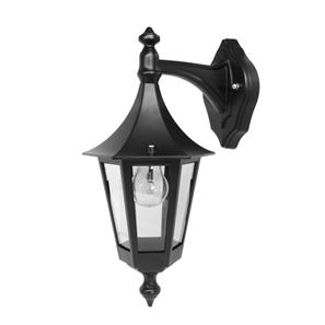 Lantern Wall Down 240V 60W Black