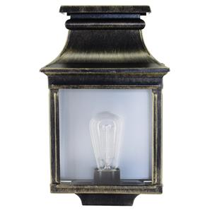 Louis Philippe 1 Garden Lantern 75W Gold Patina