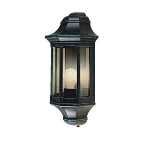 Small Lantern Wall 240V 60W Black Green