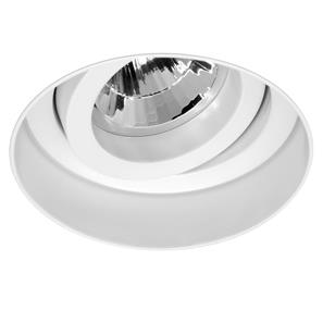 Trimless Round Fire Rated Adjustable Downlight 240V White 50W