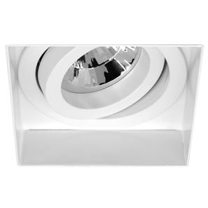 Trimless Square Fire Rated Adjustable 240V White 50W