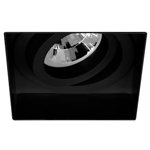 Trimless Square Fire Rated Adjustable 240V Black 50W