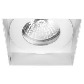 Trimless Square Fire Rated Fixed Clear Glass IP55 240V White 50W