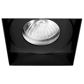 Trimless Square Fire Rated Fixed Clear Glass IP55 240V Black 50W
