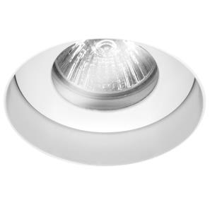 Trimless Round Fire Rated Fixed Clear Glass IP55 240V White 50W