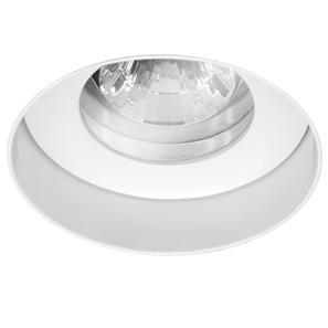 Trimless Round Fire Rated Fixed Clear Glass Downlight IP55 240V White 50W