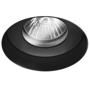 Trimless Round Fire Rated Fixed Clear Glass IP55 240V Black 50W