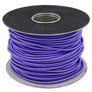 Braided Cloth Round Flex 3 Core Cable 100M 0.75mm² Purple