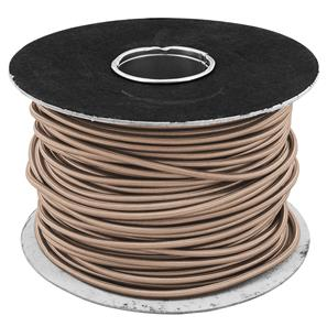 Braided Cloth Round Flex 3 Core Cable 100M 0.75mm² Brown