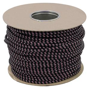 Braided Cloth Round Flex 3 Core Cable 100M 0.75mm² Black / Red White