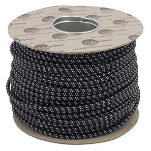 Braided Cloth Round Flex 3 Core 100M 0.75mm� Black White