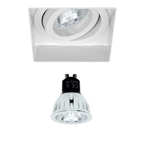 Trimless Square Fire Rated Adjustable GU10 Retro LED Warm White (3000K) 5W (=50W) 60°