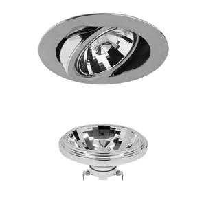 AR111 Reality LED & Driver 13W 950lm (=75W) Dimmable Warm White (2700K)   24° Chrome