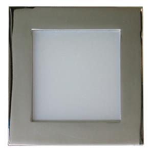 Aqua Square Internal 240V Chrome / Frosted Glass Blue