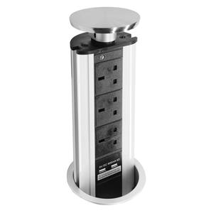 Pop-Up Socket - With USB 240V 13A Stainless Steel