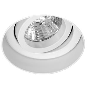 Trimless Round Fire Rated Adjustable Downlight 12V White 50W