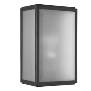 Homefield Frosted Glass Sensor Controlled Wall Light 240V (7266) 60W Matt Black
